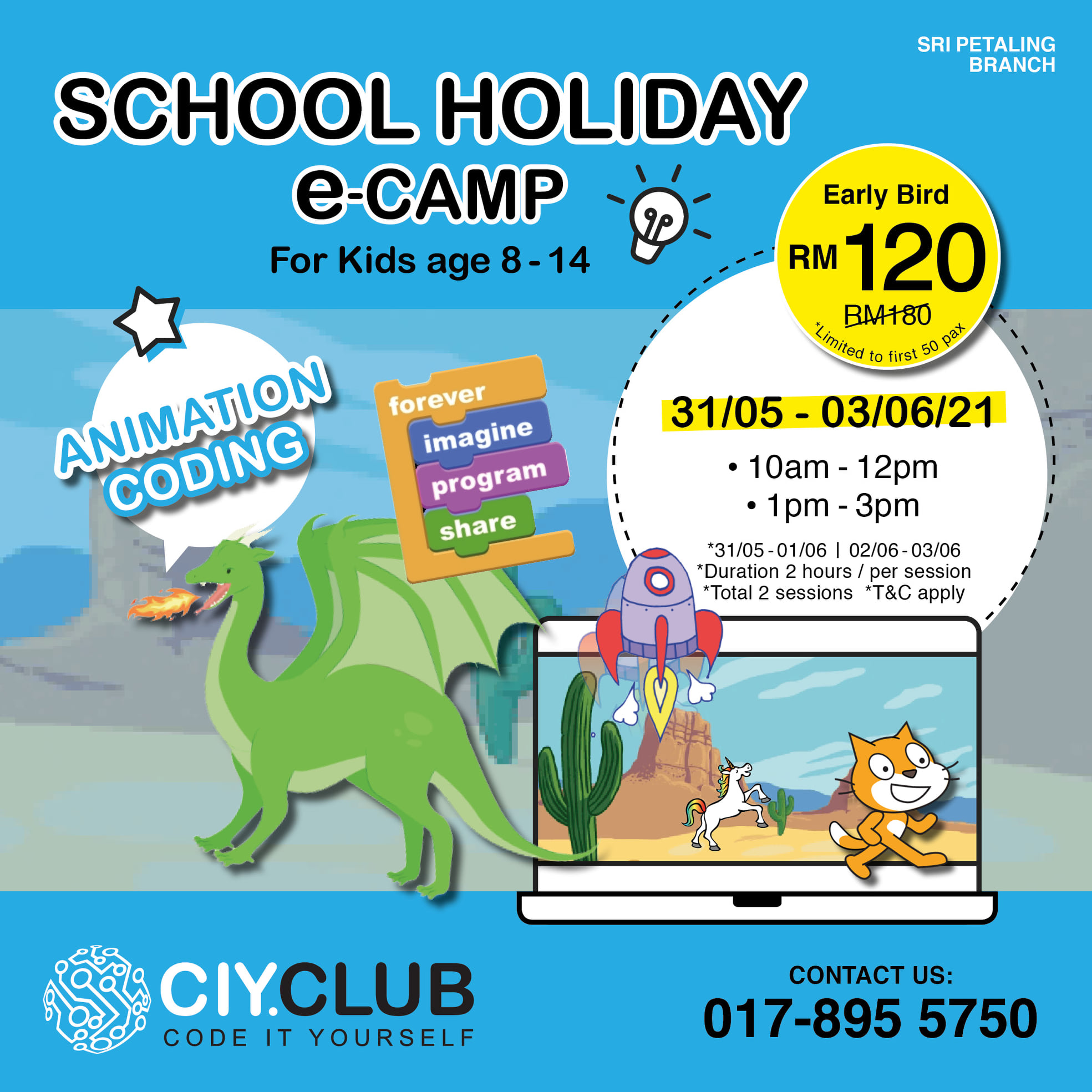 School holiday camp and programme