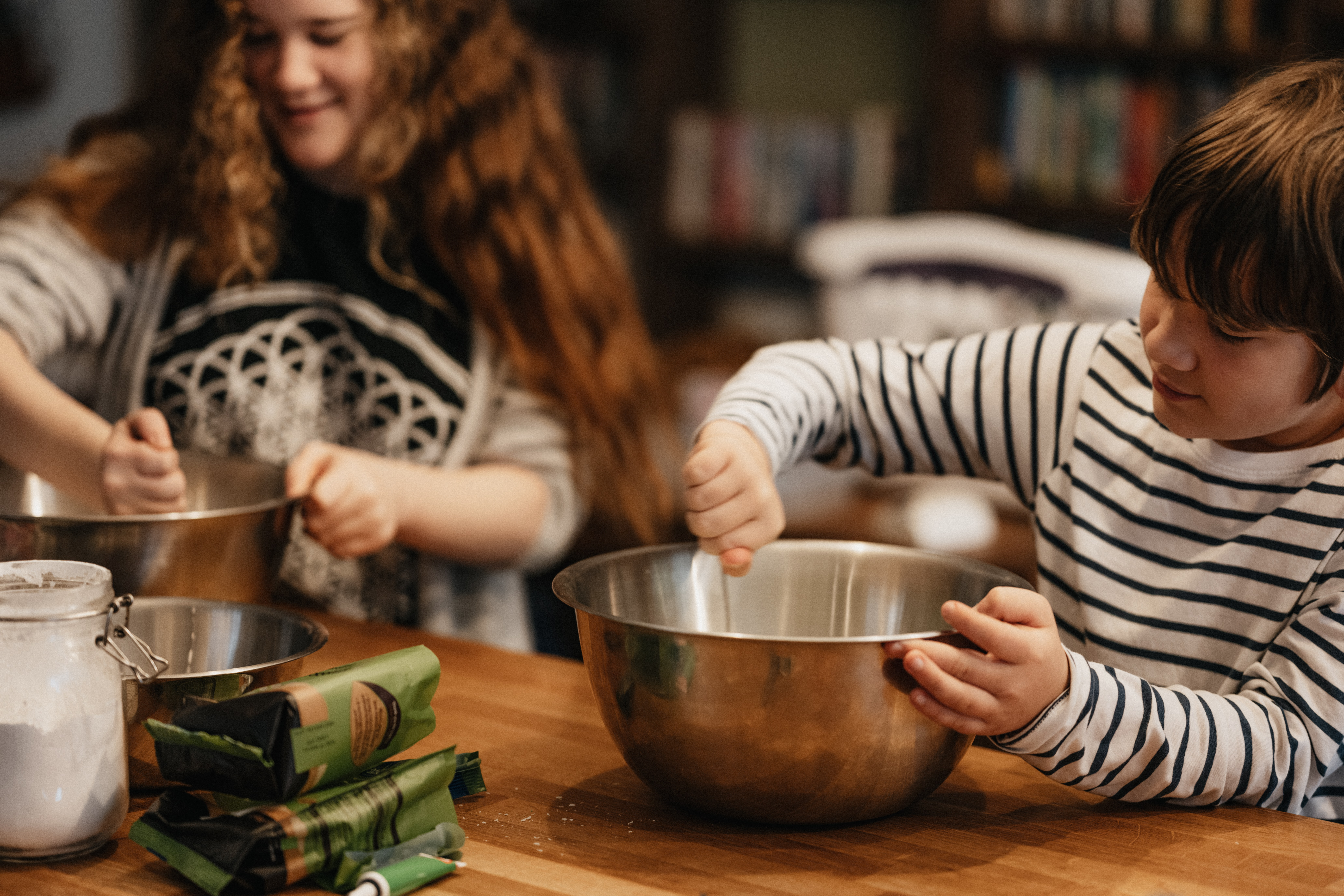 Baking and cooking are some of the afforable activities for families.
