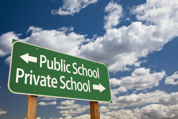 comparing the similarities and differences between private schools and public schools In 2010 a study found that 82% of pupils offered a voucher went on to graduate  from high school, compared with 70% of similar peers who.