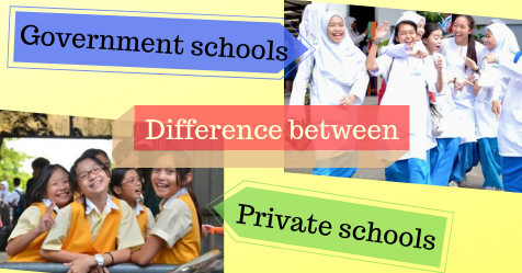 difference between government schools and private schools